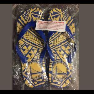 Golden State Warriors Polynesian Night Flip Flops